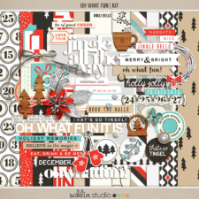 Oh What Fun - Digital Printable Scrapbooking Kit by Sahlin Studio - Perfect for your Project Life or December Daily albums!!
