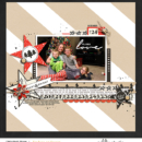 Give Love scrapbooking layout using Photo Journal Templates by Sahlin Studio