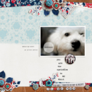 Cute digital scrapbooking page Photo Rounds - Days Weeks by Sahlin Studio