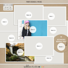 Photo Rounds - Weeks by Sahlin Studio - Perfect for your Project Life album or photo overlays on pictures!!