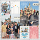 Disneyland Castle digital project life page using Project Mouse: Artsy and Beginnings by Sahlin Studio and Britt-ish Designs