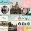Disney digital scrapbooking layout using Project Mouse: Beginnings Kit and Journal Cards by Sahlin Studio and Britt-ish Designs