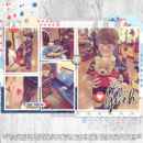 Oh Yeah digital scrapbooking kit using For Real by Sahlin Studio