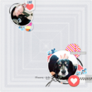 Digital scrapbooking layout using For Real by Sahlin Studio