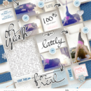 Oh Yeah digital scrapbooking page using For Real by Sahlin Studio