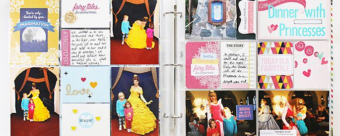 Sahlin Studio CT Theresa Moxley Disney Project Life Album – #10 Princess Dinner at Akershus