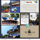 Disney run digital project life page using Project Mouse (Run) by Britt-ish Designs and Sahlin Studio
