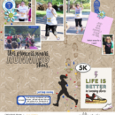 Life is Better in Running Shoes digital project life page using Project Mouse (Run) by Britt-ish Designs and Sahlin Studio