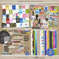 Project Mouse (Run) Bundle by Britt-ish Designs and Sahlin Studio - Perfect for your magical races, runs, marathons and exercise in your Digital Scrapbooks or Project Life or Project Mouse albums!