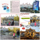 Disneyland Paris Anniversary digital project life page using Project Mouse (Celebrate) by Britt-ish Designs and Sahlin Studio