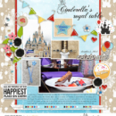 Cinderella's Royal Table digital scrapbooking layout using Project Mouse (Celebrate) by Britt-ish Designs and Sahlin Studio