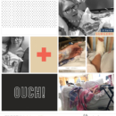 Project Life page using Ouch by Sahlin Studio - Perfect for scrapbooking your hospital, doctor, er, ouch moments!!