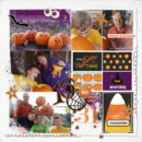 Digital project life scrapbooking double page using Project Mouse (Halloween): Artsy & Pins by Britt-ish Designs and Sahlin Studio