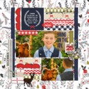 Christmas digital scrapbooking layout using December collection by Sahlin Studio