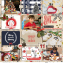 Christmas Bring on the Joy digital scrapbooking layout using December collection by Sahlin Studio