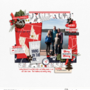 Christmas Countdown Moving Bring on the Joy digital scrapbooking layout using December collection by Sahlin Studio