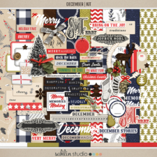 December | Kit by Sahlin Studio - Perfect for Documenting Your December or December Daily album!!