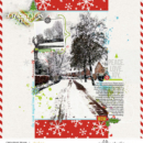 Peace Love Joy Christmas digital scrapbooking layout using Project Mouse (Christmas) Pins + Artsy collection by Britt-ish Designs and Sahlin Studio