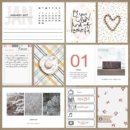 Project Life page using 4x6 Monthly Cards No.1 by Sahlin Studio - Perfect Calendar Monthly Cards for your Project Life album!!