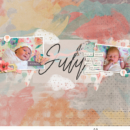 digital scrapbooking page using 4x6 Monthly Cards No.1