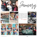 Project Life digital page using 4x6 Monthly Cards No.1