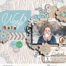 Week 3 digital scrapbooking page using Weekly Journal Calendar Cards by Sahlin Studio