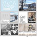Week 1 Digital Project Life page using Weekly Journal Calendar Cards by Sahlin Studio