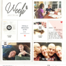 Currently Right Now Project Life page by larkindesign featuring Currently Photo Templates and Flair Icons by Sahlin Studio