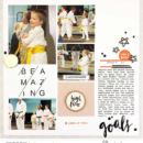 hybrid scrapbook layout created by larkindesign featuring March 2018 FREE Template by Sahlin Studio