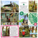 Love it here digital project life page using Project Mouse (Paradise) by Britt-ish Designs and Sahlin Studio