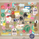 Project Mouse (Paradise): Elements by Britt-ish Designs and Sahlin Studio - Perfect for your Project Life / Project Mouse albums for documenting your Hawaii, cruise or vacation scrapbooking pages.