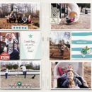 Hybrid project life double page using Project Mouse (Boardwalk): Elements by Britt-ish Designs and Sahlin Studio