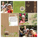 Jungle Cruise Disney Adventureland Project Life page using Project Mouse (Adventure): Artsy & Pins by Britt-ish Designs and Sahlin Studio