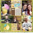 Disney Adventureland Dole Whip Project Life page using Project Mouse (Adventure): Artsy & Pins by Britt-ish Designs and Sahlin Studio