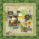 Wild Jungle Adventure Awaits Disney digital scrapbooking page using Project Mouse (Adventure): Artsy & Pins by Britt-ish Designs and Sahlin Studio