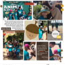 Disney's Animal Kingdom and Chip and Dale digital scrapbook Project Life page Project Mouse (Wilderness) & Photo Rounds by Sahlin Studio