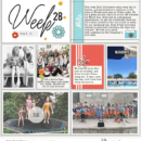 Look at the week - ROUTINES scrapbook Project Life page Photo Rounds by Sahlin Studio