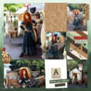 Disney Brave Merida digital scrapbook Project Life page Project Mouse (Wilderness) by Britt-ish Designs and Sahlin Studio