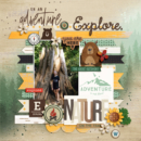 On an Adventure Explore digital scrapbook Project Life page Project Mouse (Wilderness) by Britt-ish Designs and Sahlin Studio