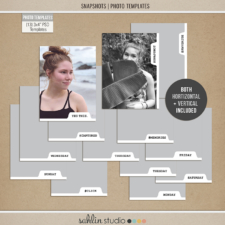 Snapshots - Photo Templates by Sahlin Studio Perfect for your Project Life albums!!
