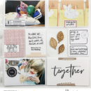 Weekly Spread Project Life page using Gather | Scrapbook Kit and Journal Cards by Sahlin Studio