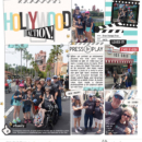 Disney Hollywood Studios ACTION digital Project Life scrapbooking layout using Project Mouse (Movies) by Britt-ish Designs and Sahlin Studio