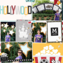 Disney Hollywood Studios - Movies digital Project Life scrapbooking layout using Project Mouse (Movies) by Britt-ish Designs and Sahlin Studio