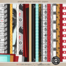 Project Mouse (Movies): Papers by Britt-ish Designs and Sahlin Studio - Perfect for scrapbooking your movie night or night at the movies or your Disney Hollywood Studios photos in your scrapbooking or Project Life albums!!