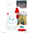 December Daily page using the Home for the Holidays collection by Sahlin Studio - Perfect for Christmas!