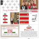 December / Christmas digital Project Life page Home for the Holidays collection by Sahlin Studio - Perfect for Documenting Your December (DYD) or your Christmas!