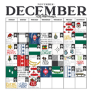 December / Christmas Calendar Countdown digital page using Home for the Holidays collection by Sahlin Studio - Perfect for Documenting Your December (DYD) or your Christmas!