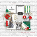 Oh What Fun!! December / Christmas digital scrapbook page Home for the Holidays collection by Sahlin Studio - Perfect for Documenting Your December (DYD) or your Christmas!