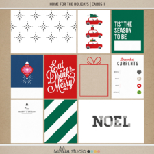Home for the Holidays (Journal Cards 1) by Sahlin Studio - Perfect for scrapbooking your December daily albums, Document Your December or Christmas albums!!