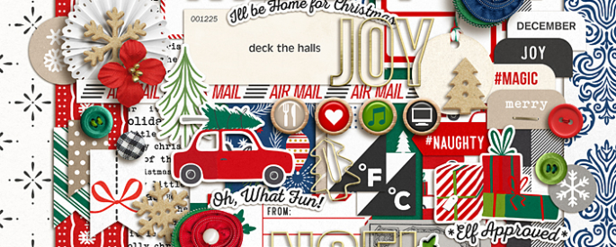 Home for the Holidays (Kit) by Sahlin Studio - Perfect for scrapbooking your December daily albums, Document Your December or Christmas albums!!